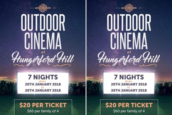 Hungerford Hill Outdoor Cinema, Hunter Valley