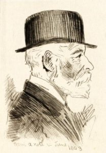 Sketch of David Scott Mitchell by Lionel Lindsay inNSW State Library